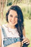 Natural teen girl portrait Stock Photos