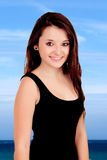 Natural teen girl on vacation Stock Photos