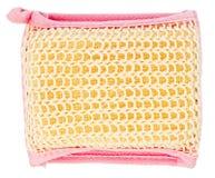 Natural textile bath sponge Stock Photo