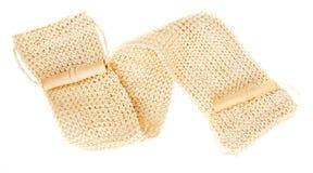 Natural textile bath sponge Royalty Free Stock Images