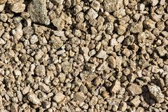Natural texture. Closeup of gravel Royalty Free Stock Image