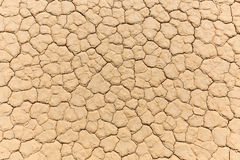 Natural texture of dry cracked clay lake bed Royalty Free Stock Photos