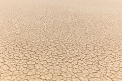 Natural texture of dry cracked clay lake bed Stock Images