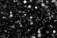 Natural texture of falling snow Royalty Free Stock Photos