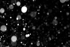 Natural texture of falling snow Stock Photo