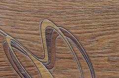 Natural texture of linoleum. The natural texture of linoleum, the artificial color of wood, is beautiful and fashionable royalty free stock photos