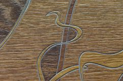 Natural texture of linoleum. The natural texture of linoleum, the artificial color of wood, is beautiful and fashionable royalty free stock photography