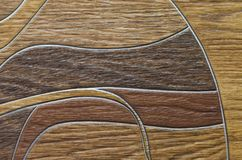 Natural texture of linoleum. The natural texture of linoleum, the artificial color of wood, is beautiful and fashionable stock images