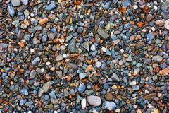 Natural texture. Pebbles. Variant one. Royalty Free Stock Photography