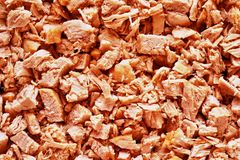 Natural texture of pieces of boiled meat Royalty Free Stock Image