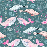 Natural texture of the whales and manatees Stock Image