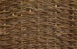 Natural texture of a wicker undressed willow Royalty Free Stock Images