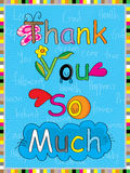Natural thank you so much Stock Images