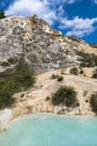 Natural thermal baths. In the Natural Park of the Mills. Bagno Vignoni, Tuscan, Italy Stock Image