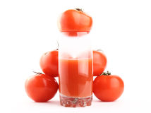 Natural tomato juice. Isolated Stock Photo