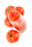 Natural tomato juice. Isolated Stock Photos