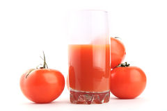 Natural tomato juice. Isolated Royalty Free Stock Photo