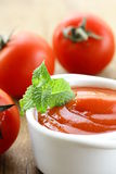 Natural tomato sauce Royalty Free Stock Photography