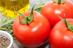 Natural tomatoes Stock Photo