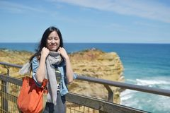 Natural travelling girl. Girl travelling natural in Australia Stock Image