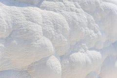 Natural travertine background, Pamukkale, Turkey royalty free stock photos