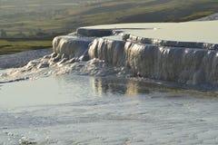 Natural travertine pools in Pamukkale, Turkey royalty free stock image