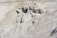 Natural travertine pools and terraces, cotton castle, Pamukkale, Turkey Royalty Free Stock Image
