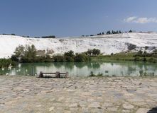 Natural travertine pools and terraces, cotton castle, Pamukkale, Turkey Stock Photography