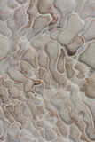 Natural travertine pools and terraces marble texture, Pamukkale, Turkey, cotton castle Royalty Free Stock Photography