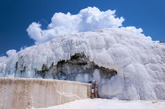 Natural travertine pools and terraces at Pamukkale, Turkey Stock Photography