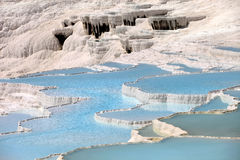 Natural travertine pools and terraces, Pamukkale Stock Image