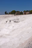 Natural travertine pools and terraces. Pamukkale. Turkey Royalty Free Stock Image