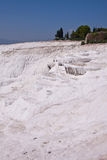 Natural travertine pools and terraces. Pamukkale. Turkey Stock Images