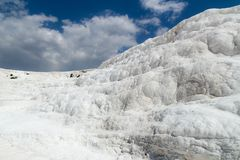 Natural travertine pools and terraces at Pamukkale Stock Photography