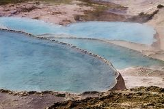 Natural travertine pools and terraces, Pamukkale, Turkey royalty free stock photo