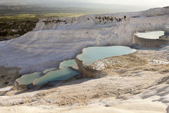 Natural travertines in Pamukkale, Turkey Royalty Free Stock Photography