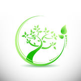 Natural tree cycle illustration design Stock Image