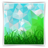 Natural Triangular Polygonal Spring background with gra Royalty Free Stock Photography