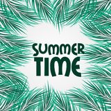 Natural tropical leaves forest for summer time event. Banner poster template stock photos