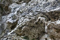 Natural tuff rock in the mountains Stock Image