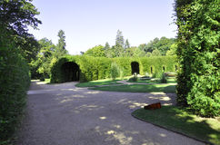 Natural tunnel from Sanssouci in Potsdam,Germany Royalty Free Stock Photos