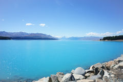 Natural turquoise lake. Royalty Free Stock Photography