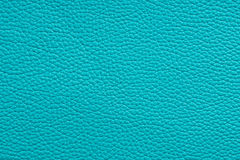 Natural turquoise leather texture Stock Images