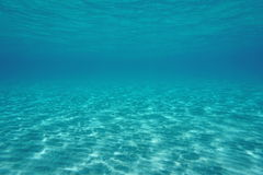 Natural underwater scene shallow sandy seabed Royalty Free Stock Photo
