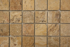 Natural unfilled rough travertine mosaic Stock Photo