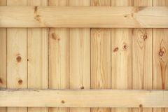 Natural Unpainted Wood Panel With Squared Balk Background. Texture Royalty Free Stock Photos