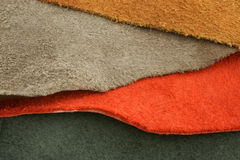 Natural variegated suede Stock Photography