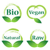 Natural,vegan ,bio badge Stock Images
