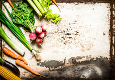 Natural vegetables and herbs. Royalty Free Stock Photo