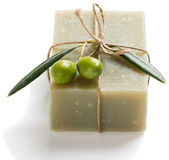 Natural vegetal soap of olive Royalty Free Stock Images